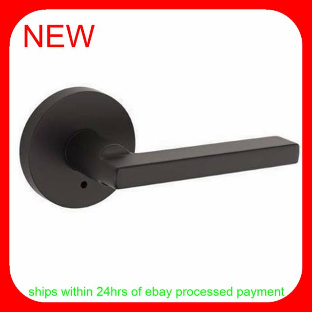 Kwikset 155hflrdt Halifax Privacy Door Lever Set With Round Rosette For Sale Online Ebay