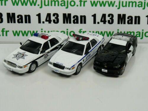 Camaro SS PM12 26 47 Lot 3 X 1//43 Police Du MONDE USA IST Ford Crown Victoria
