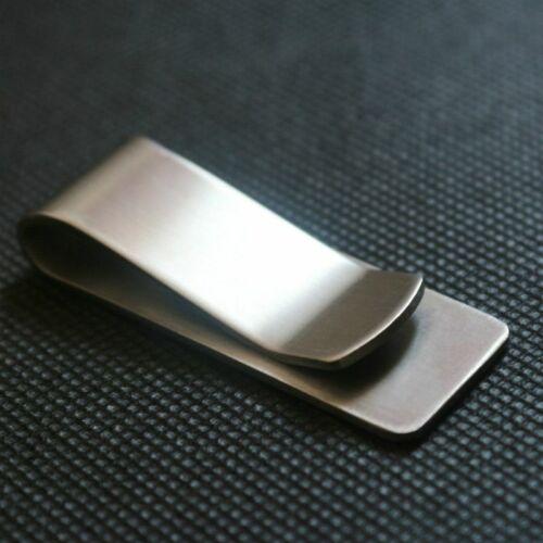Stainless Steel Slim Pocket Holder Money Clip Wallet Cash ID Credit Card pocket