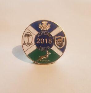 Frugal Rugby Écossais Badge Automne Tests 2018 Bonne Conservation De La Chaleur