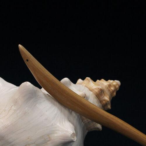 Traditionelle geschnitzte Ebenholz Holz Haar Pin Stick Original Retro Damen