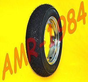 1 Roue Chrome Michelin 3.00-10 S83 Vespa Pxe Set Caoutchouc + Roue + Salle Air Couleurs Harmonieuses