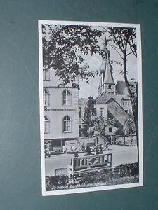 St-Wendel-Durchblick-am-Rathaus-ca-50er-Jahre-Personen-Parkbank-Automobile