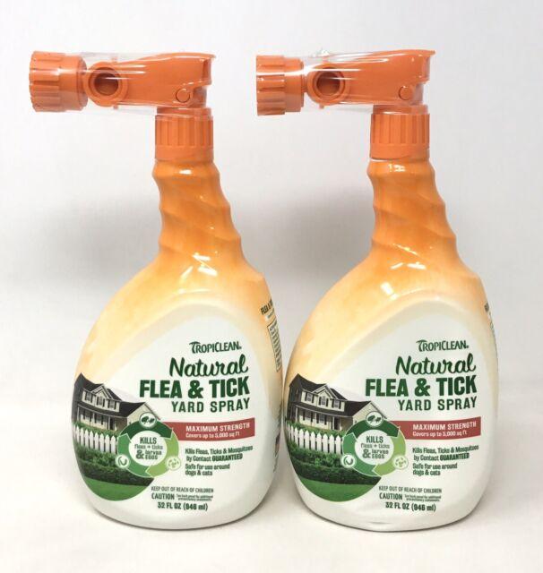 2-Pk Tropiclean Natural Flea & Tick Yard Spray 32 fl. oz ...