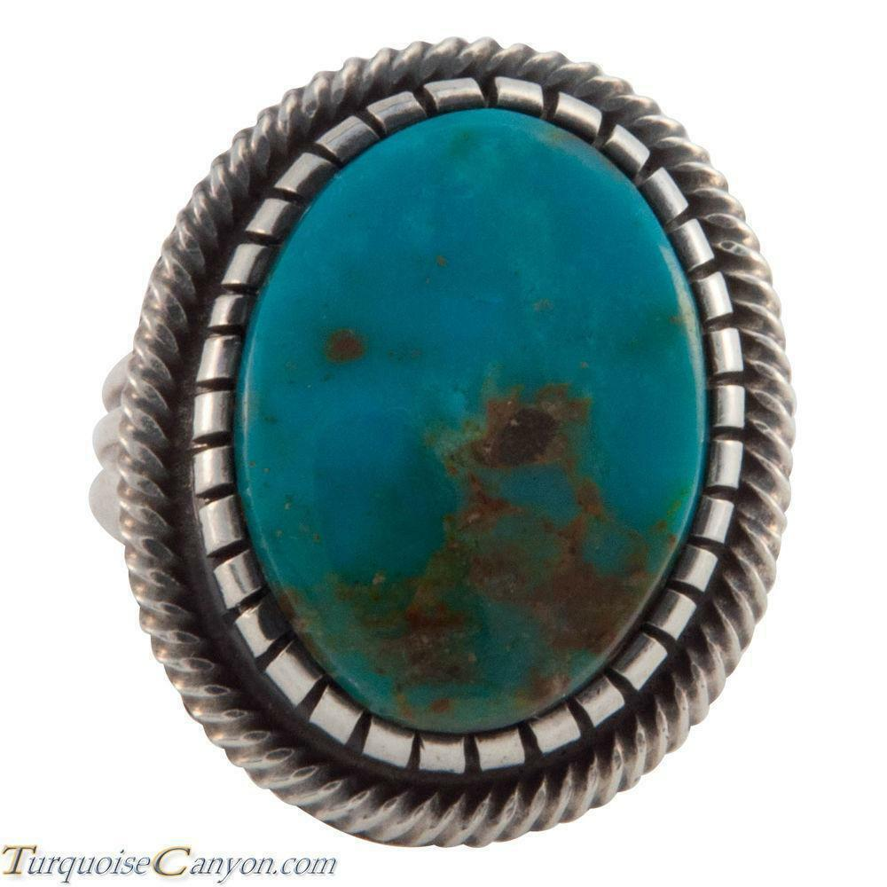 Navajo Native American Kingman Turquoise Ring Size 6 3 4 by Martinez SKU226630