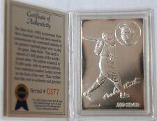 LIMITED 1995 BABE RUTH 100TH ANNIVERSARY BASEBALL .999 SILVER TRADING CARD