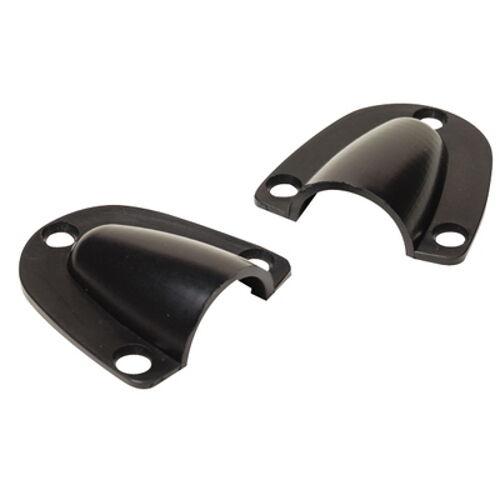Pack of 2 Medium Black Plastic Clam Shell Ventilators or Wire ...