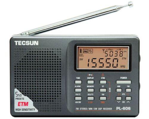TECSUN PL-606 DIGITAL PLL FM//MW//LW//SW PL606 RADIO