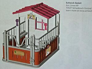 1531) Schleich Reiterhof Pferdebox Unterstand für Pferdehof Bauernhof