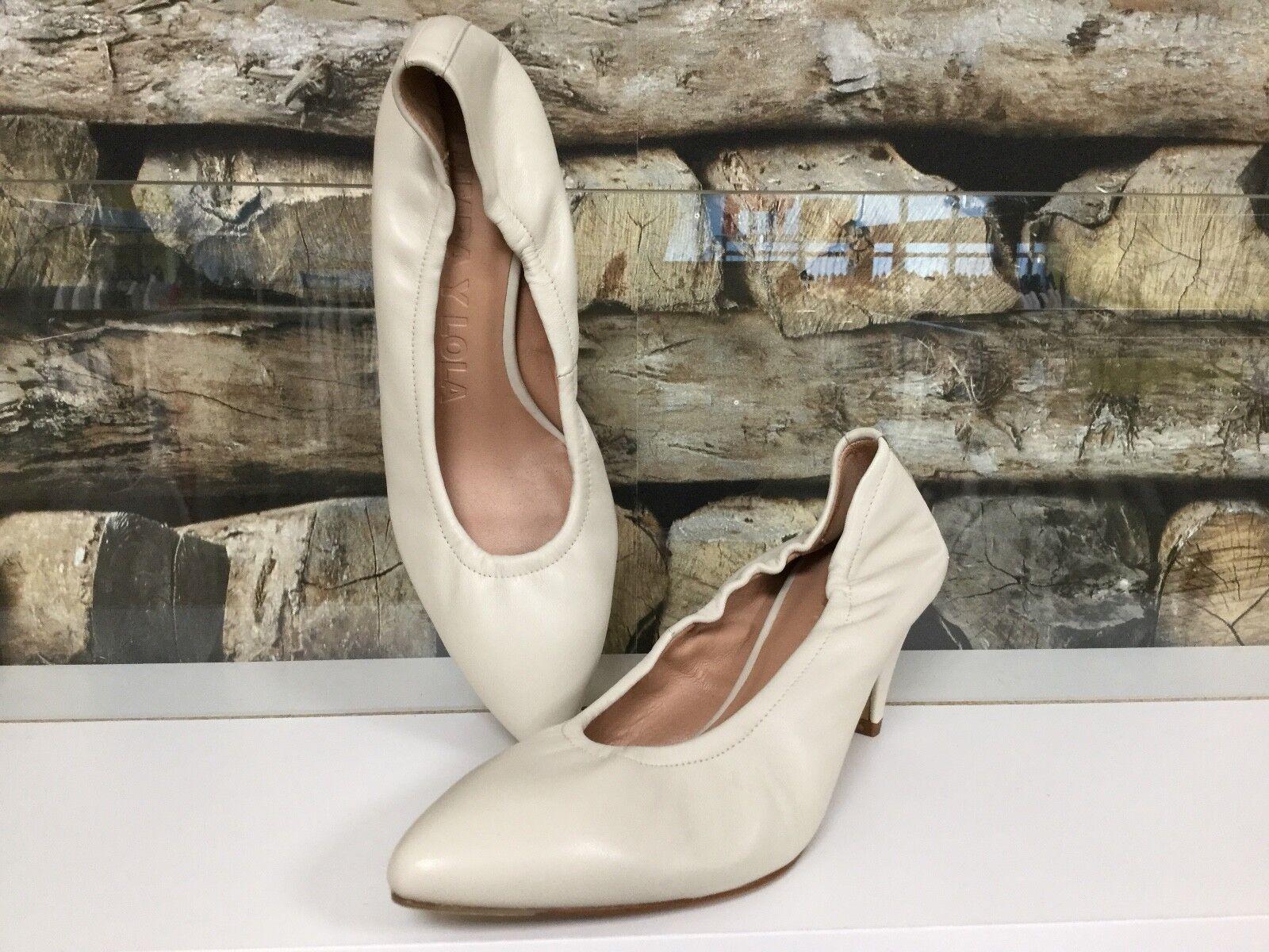 BIMBA Y LOLA Damen Schuhe Damenschuh Pump High Heels Stiletto Weiß Echtleder NEU