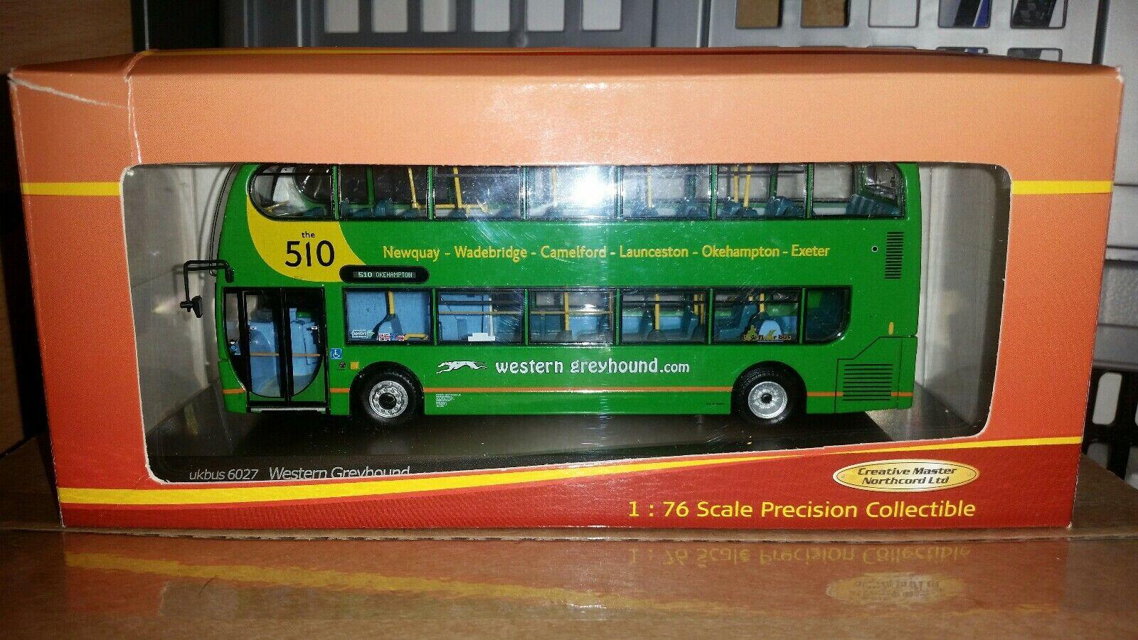 Ukbuss 6027 Enviro 400 Western gråhound 1 76 Scale modell buss