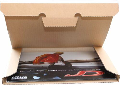 Premium LP Versandkartons für 1-3 Vinyl LP//Maxi 12 Zoll extra stark NEU 90 St