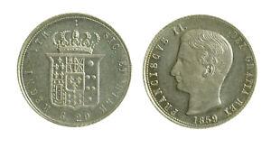 096) NAPOLI Regno Due Sicilie Francesco II di Borbone (1859-1860) TARI' 1859 - Italia - 096) NAPOLI Regno Due Sicilie Francesco II di Borbone (1859-1860) TARI' 1859 - Italia