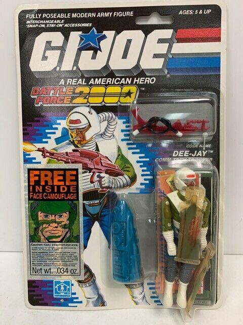Hasbro GI Joe Battle Force 2000 DEE-JAY 3.75  Figure Factory Sealed MOC (1988)