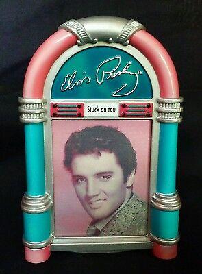 Elvis Presley Musical Christmas Ornament 3 image Hologram Juke Box STUCK ON YOU