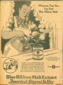 Clipping-Newspaper-Advertising-Prohibition-Blue-Ribbon-Malt-Extract-Beer-1930