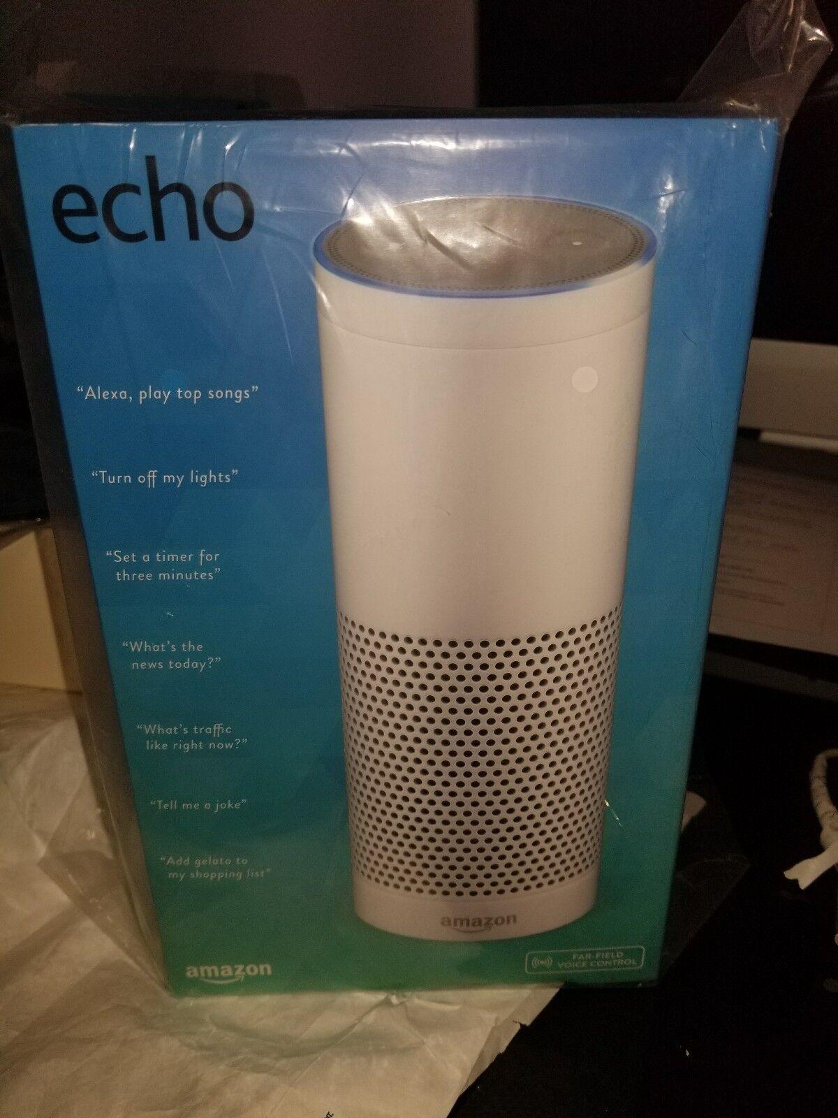 BRAND NEW Amazon Echo w  Alexa Voice Control Personal Personal Personal Assistant - Weiß 6cc9e3