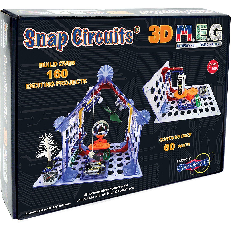 Snap Circuits 3D M.E.G. Electronics Discovery Kit - Go grönical