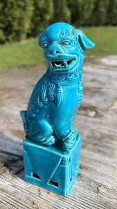 Vintage Antique Chinese Oriental Green Blue Foo Dog Figurine - Market Drayton, United Kingdom - Vintage Antique Chinese Oriental Green Blue Foo Dog Figurine - Market Drayton, United Kingdom