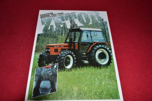 Zetor 7211 7245 Tractor Dealer/'s Brochure LCOH