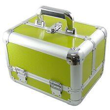 Beauty Case Make Up Nail Art Verde XXL Valigia Cofanetto Porta Gioie Oggetti