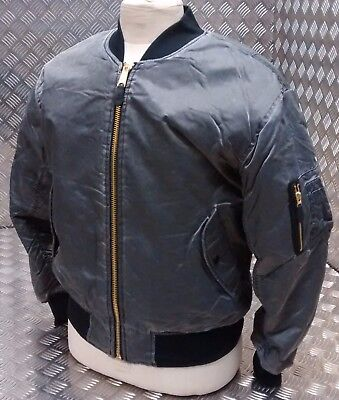 Leale Ma1 Us Stile Militare Bomber Mod/scooter/bikers Lavato Pietra Nera-nuovo-kers Black Stone Washed - New It-it Design Professionale