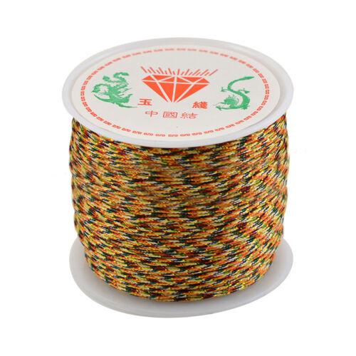 0.8 mmX45M Cuerda De Nylon Hilo Macramé Cola de rata Pulsera Trenzado Cadena chineseknot
