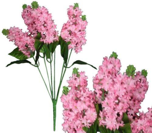 """Lot of 120 Pink Poly Silk 14/"""" Lilacs Wedding Home Decor Craft Silk Flower Filler"""