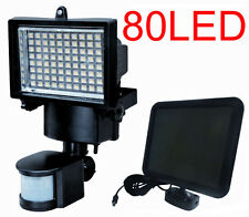 80 LED Solar Powered Motion Sensor Security Flood Light Outdoor Lights