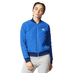 Détails sur Women's Adidas Matelassé Veste de survêtement bleu Bomber Everyday afficher le titre d'origine