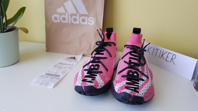 8842843ec76 Adidas Crazy BYW LVL X Pharrell Ambition Pink G28183 8 1 2US
