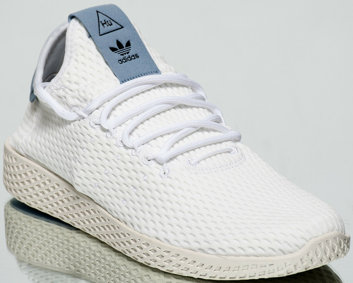 Adidas Originals Pharrell Williams Tenis Human Nuevo Blanco Crema Azul Human Tenis Race BY8718 281d68