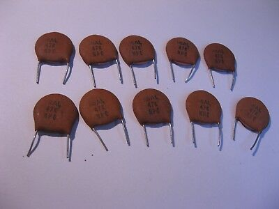 470 pf 500 Volt +//-20/% Disc Ceramic Capacitor QTY 25 ea D64 NOS, New Old Stock