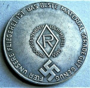 WW2-1935-1945-GERMAN-COMMEMORATIVE-COLLECTORS-REICHSMARK-COIN-FLIEGER