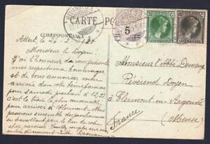Luxembourg-OLD-POSTCARD-REDANGES-YEAR-1930-DESTINATION-CLERMONT-EN-ARGONNE