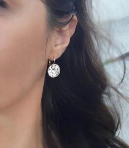 Image Is Loading Large 15m Round Bella Earrings Clear Swarovski Crystal