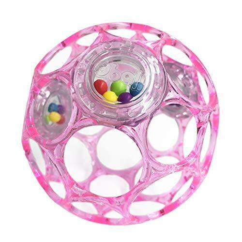 12030 *Oball Oh ball Oh ball Rattle Baby pink Kids II