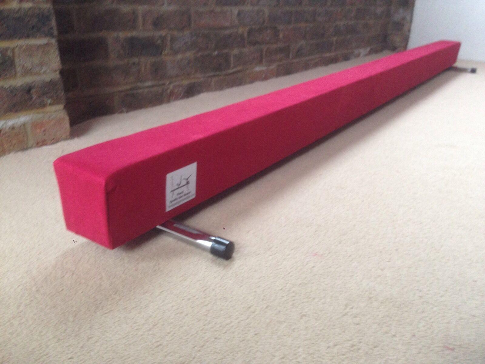 Finest quality gymnastics gym balance beam  10FT long red reduced bargain
