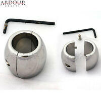 Stainless Steel Testicle Ball, Scrotum Stretcher, Ball Weigh 17 Oz Oval Shape