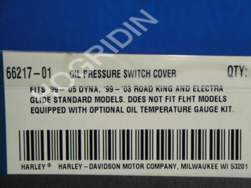 Harley Davidson oil pressure switch cover dyna touring road king  flht  66217-01