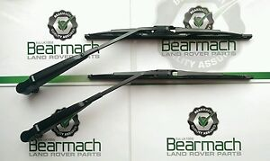 Land-Rover-Defender-90-110-TD5-Front-Wiper-Blades-amp-Arms-Set-2002-On-Wards