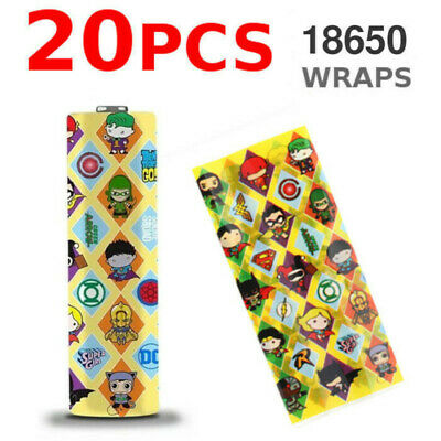 2 PC 18650 Battery Wraps Sleeves Pirate Girl Heat Shrink With Insulators