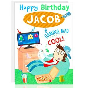 Happy Birthday Personalised Greetings Card Relax Xbox Ps4