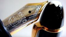"stylo plume MONTBLANC 146 LeGrand plume""F""or 18K bicolore.Prix = 575€ N°DC121..."