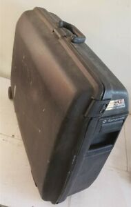 Vintage-Samsonite-Oyster-Black-Clam-Hard-Shell-Rolling-24-034-W-19-034-H-8-034-D-Suitcase