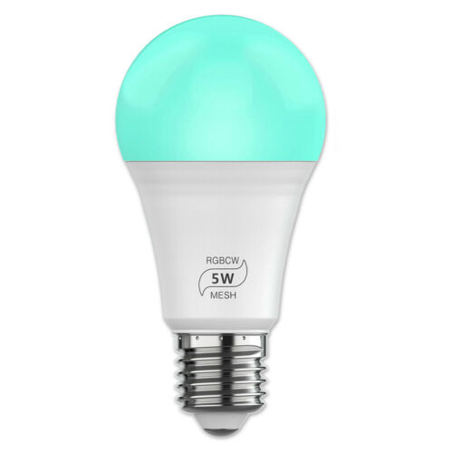 LED Smart Leuchtmittel WiFi Lampe dimmbar RGB CCT Birne E27 Alexa Google 4.5W DE