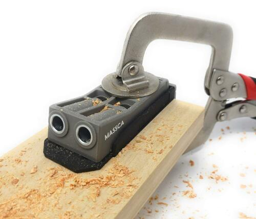Pocket Hole Jig Set System Drill Bit,Stop Collar and Hex Key Included.