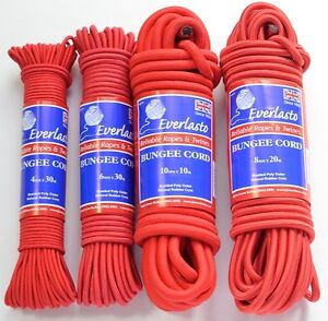 Marine Rope Responsible Everlasto Red Elastic Bungee Rope Shock Cord 4mm 6mm 8mm 10mm Various Lengths To Reduce Body Weight And Prolong Life
