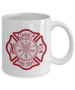 Fire Chief Coffee Mug Fire Department Maltese Cross