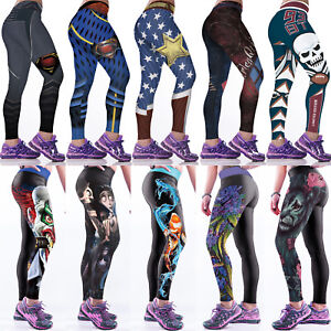 761720db29917 Image is loading Women-3D-Printed-Yoga-Pants-Fitness-Leggings-Running-